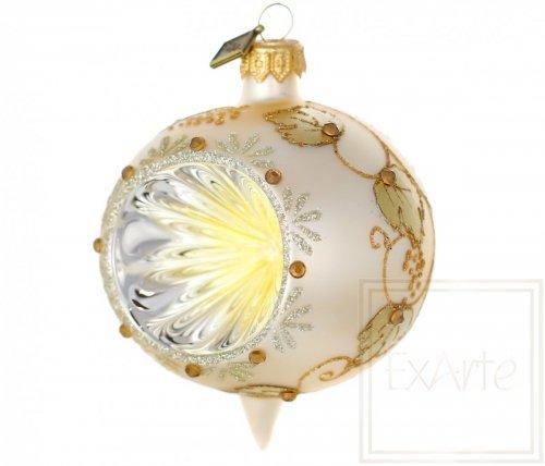Bombka ze złotym reflektorem 9cm