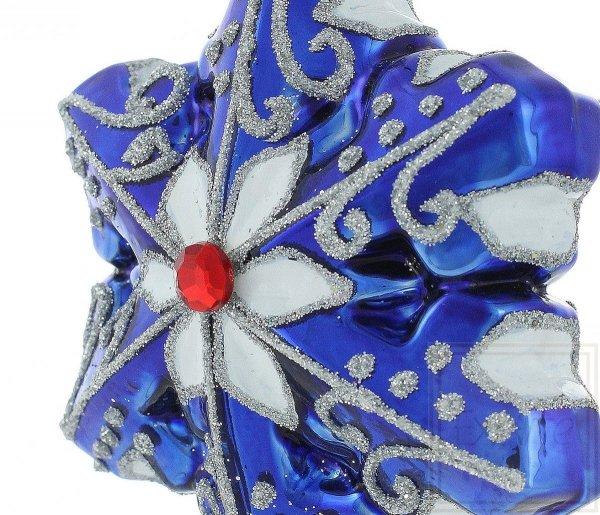 Blaue Schneeflocke, bombka śnieżynka