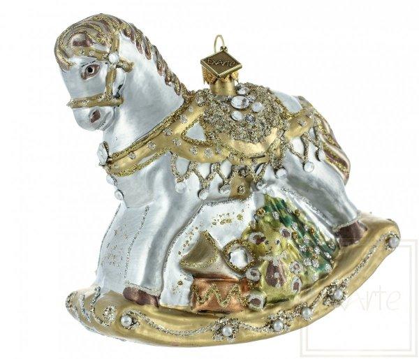 koń na biegunach bombka choinkowa / Schaukelpferd Weihnachtskugeln
