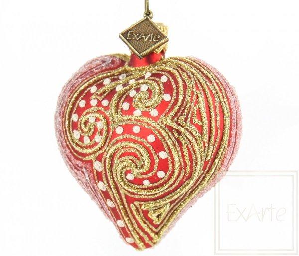 szklane serce bombka świąteczna