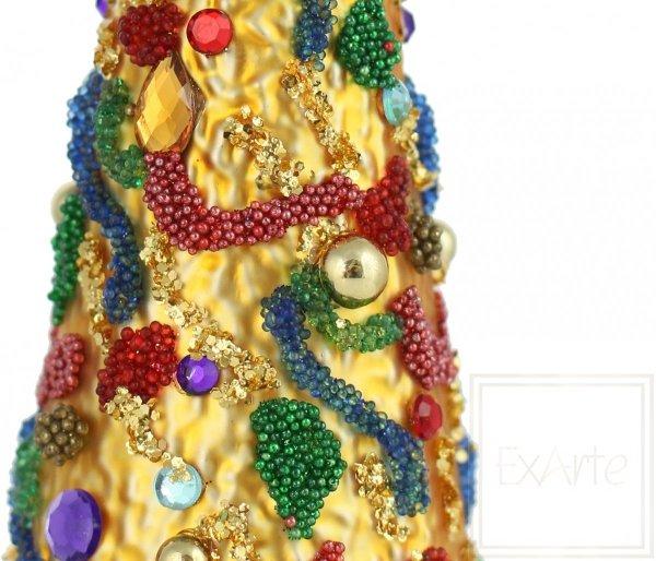 kolorowe drzewko szklana bombka / Weihnachtsbaum 16cm - Karnevalsaromen