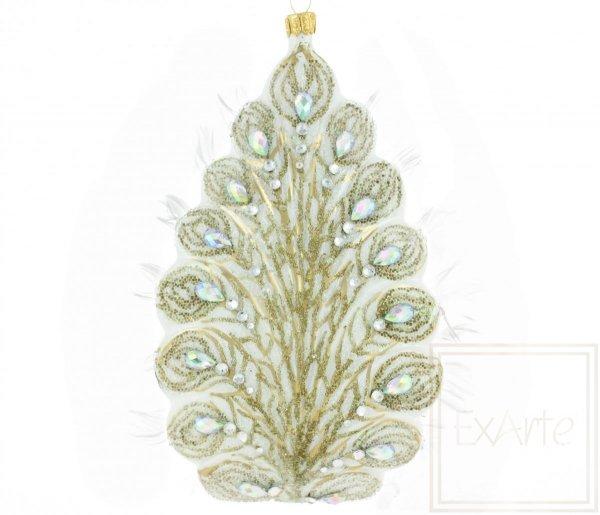 Exarte  Glasweihnachtsschmuck  Pfau der Königin 18cm