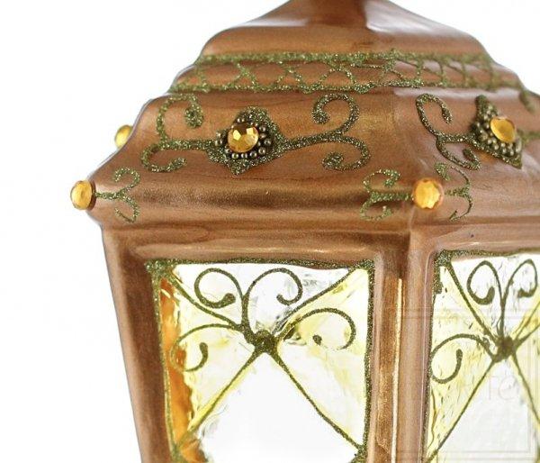 złota latarnia bombka szklana