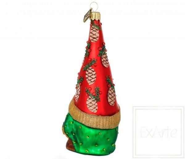 bombka świąteczna ze skrzatem