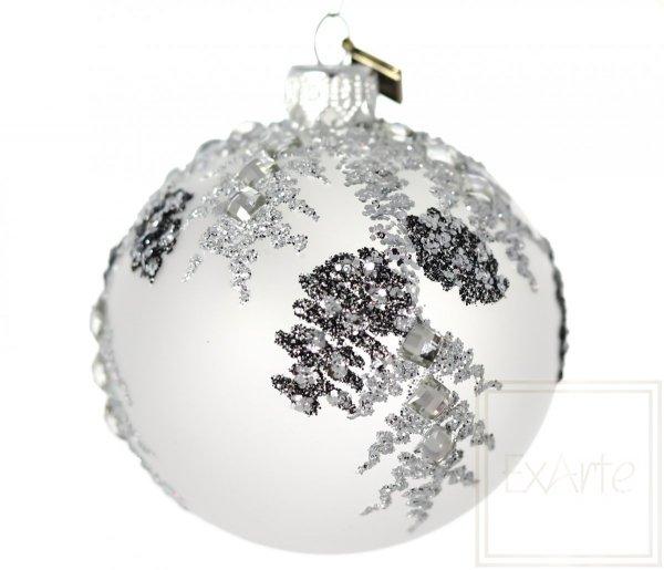 Kugel 8 cm - Silberfrost
