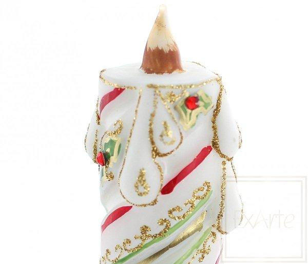 Kerze 11cm - Weihnachtsglanz