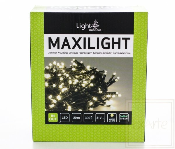 Lampki choinkowe Maxilight - długość 20m, światło białe ciepłe