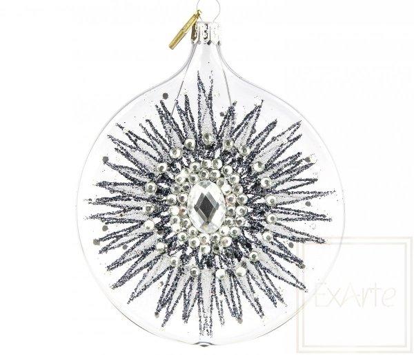 Bombka szklana medalion transparentny, 10cm Medaillon - Sprunggelenk