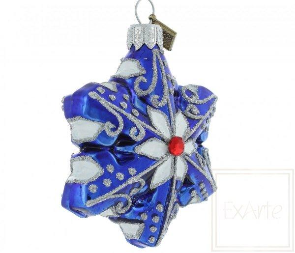 Blaue Schneeflocke, niebieska śnieżynka bombka
