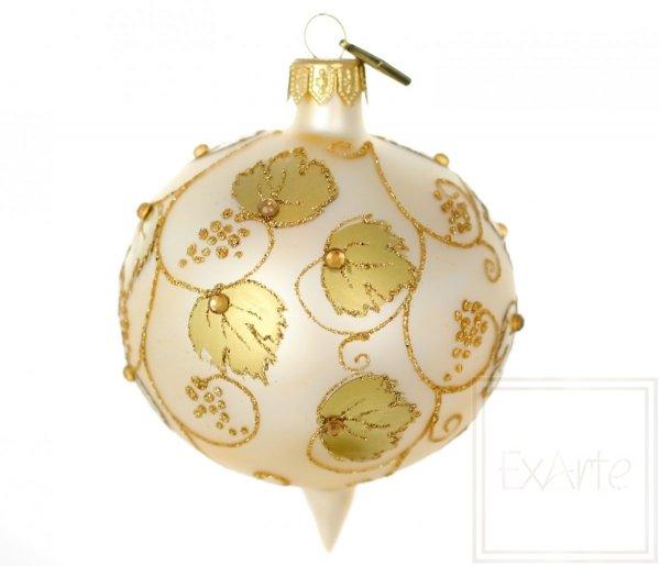 złote bombki bożonarodzeniowe z reflektorami