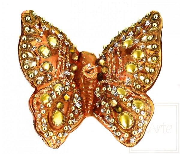 Motyl 9cm - Złocisty