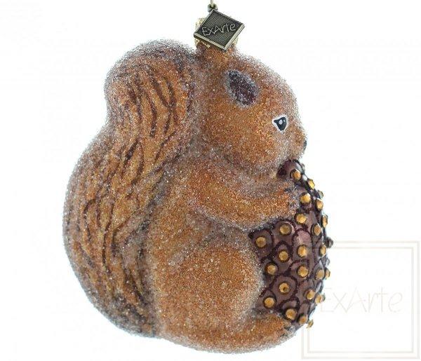Wiewiórka z szyszką - 10cm