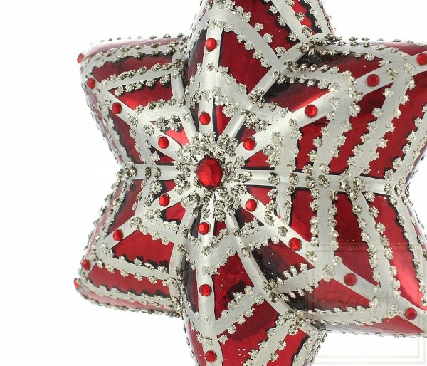 Weihnachtskugeln rote stern, czerwona gwiazda bombka