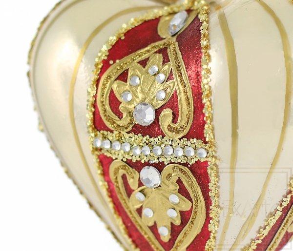 klasyka bombka w kształcie serca