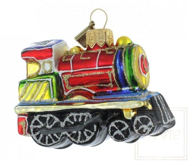 bombka ręcznie malowana lokomotywa
