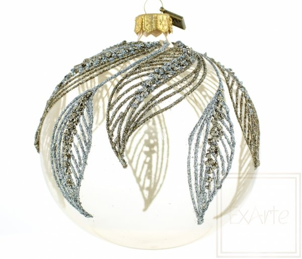 Transparente Christbaumkugel, Bombka Kula 10cm, Transparent christmas tree bauble