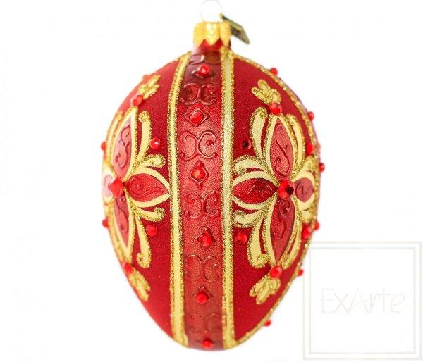 Jajko 13cm - Czerwień rubelitu