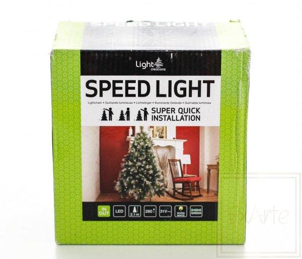 Lampki choinkowe Speed- na choinkę 2m, światło ciepłe białe