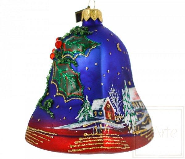 dzwonek bombka ręcznie malowana