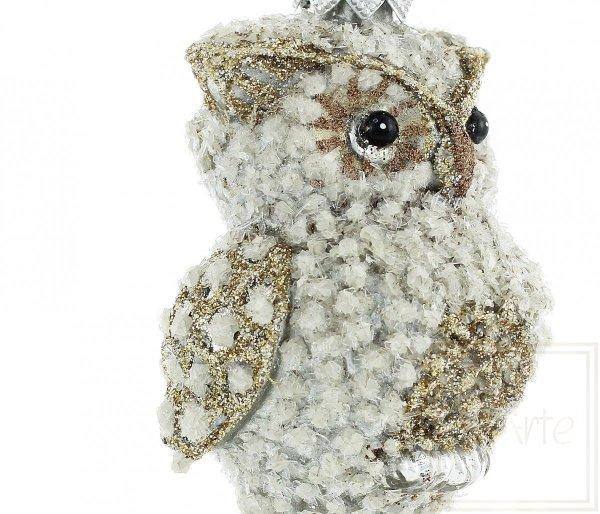 bombka figurka w kształcie sowy / Diamant-Eule Weihnachtskugeln