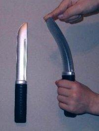 Nóż gumowy, wąski prosty