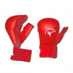Rękawice do karate WKF bez kciuka czerwone