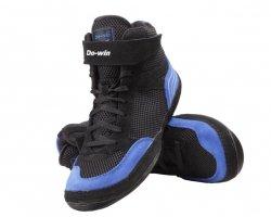 Buty zapaśnicze czarno niebieskie
