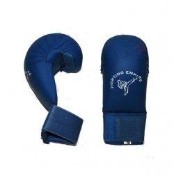 Rękawice do karate WKF bez kciuka niebieskie