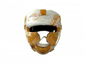 Kask bokserski MASTERS z maską żółty KSS-M