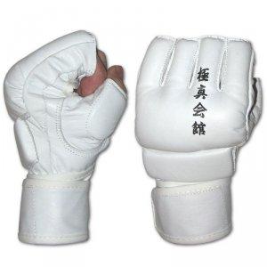 Rękawice kyokushin MMA-białe-SKÓRA