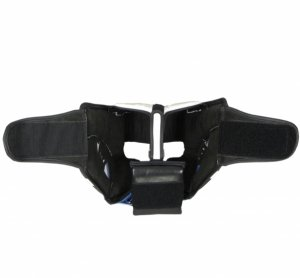 Kask bokserski skórzany sparingowy KSS-TECH-niebieski