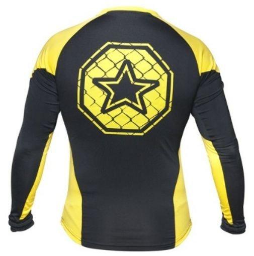 Rashguard TOP TEN MMA czarno-żółty