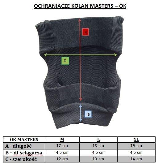 Ochraniacze kolan MASTERS - OK- budosport