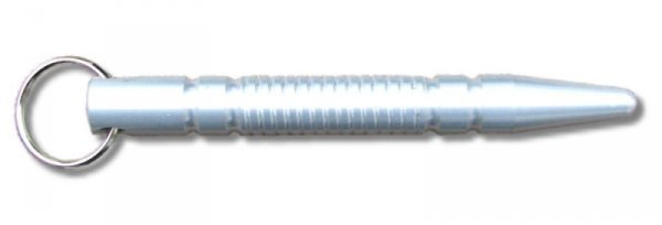 Kubotan srebrny ze stożkiem