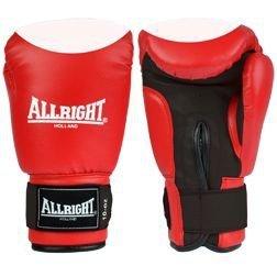 Rękawice bokserskie skóra - czerwone