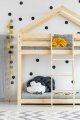 DMP 70x140cm Łóżko piętrowe dziecięce domek Mila ADEKO