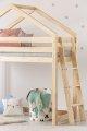 DMPBA 90x190cm Łóżko piętrowe dziecięce domek Mila ADEKO