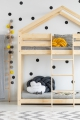 DMP 80x140 cm Łóżko piętrowe dziecięce domek Mila ADEKO