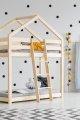 DMP 80x160cm Łóżko piętrowe dziecięce domek Mila ADEKO