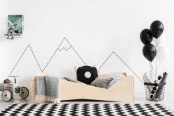 BOX 5 90x200cm Łóżko drewniane dziecięce