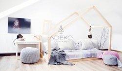 DM 90x180cm Łóżko dziecięce domek Mila ADEKO