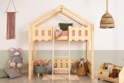 Kaiko PA 70x140cm Łóżko piętrowe dziecięce domek Mila ADEKO