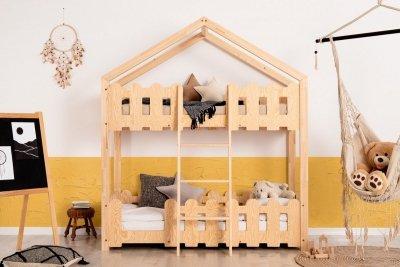 Kaiko P 70x180cm Łóżko piętrowe dziecięce domek Mila ADEKO
