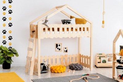 Zippo BA 70x160cm Łóżko piętrowe dziecięce domek Mila ADEKO