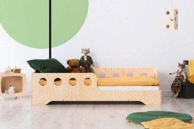 KIKI 5 - P  90x150cm Łóżko dziecięce drewniane ADEKO