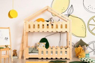 Kaiko B 80x200cm Łóżko piętrowe dziecięce domek Mila ADEKO
