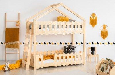 Zippo B 70x180cm Łóżko piętrowe dziecięce domek Mila ADEKO