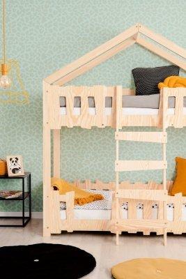 Zippo P 80x140cm Łóżko piętrowe dziecięce domek Mila ADEKO