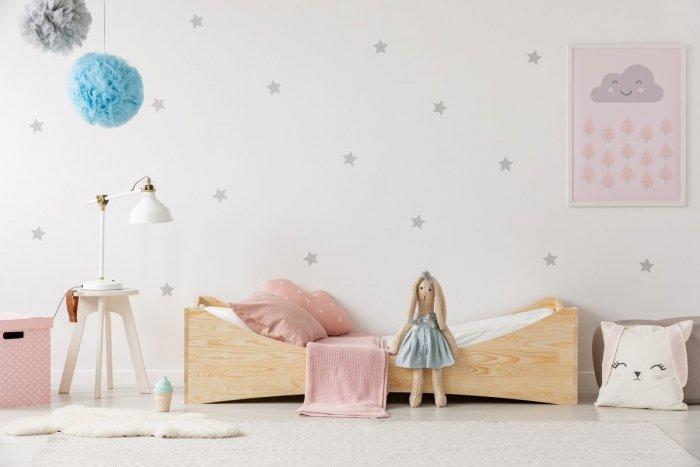 BOX 3 90x150cm Łóżko drewniane dziecięce