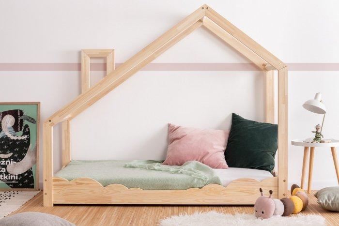 Luna D 70x160cm Łóżko dziecięce domek ADEKO